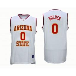 Women's Arizona State Sun Devils #0 Tra Holder Authentic College Basketball Jersey White