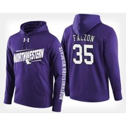 Northwestern Wildcats #35 Aaron Falzon Purple Hoodie College Basketball