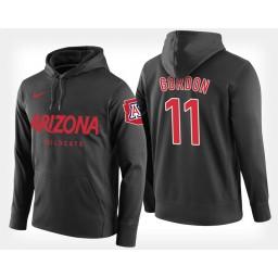 Arizona Wildcats #11 Aaron Gordon Black Hoodie College Basketball