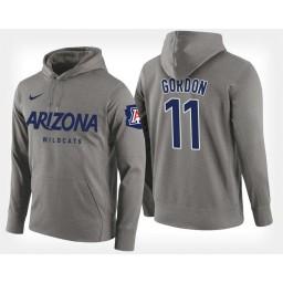 Arizona Wildcats #11 Aaron Gordon Gray Hoodie College Basketball
