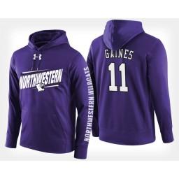 Northwestern Wildcats #11 Anthony Gaines Purple Hoodie College Basketball