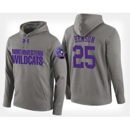 Northwestern Wildcats #25 Barret Benson Gray Hoodie College Basketball