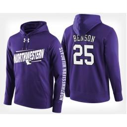 Northwestern Wildcats #25 Barret Benson Purple Hoodie College Basketball
