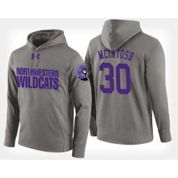 Northwestern Wildcats #30 Bryant McIntosh Gray Hoodie College Basketball