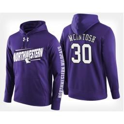 Northwestern Wildcats #30 Bryant McIntosh Purple Hoodie College Basketball
