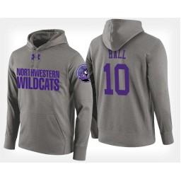 Northwestern Wildcats #10 Charlie Hall Gray Hoodie College Basketball