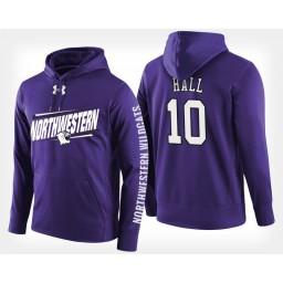 Northwestern Wildcats #10 Charlie Hall Purple Hoodie College Basketball