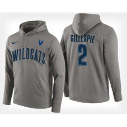 Villanova Wildcats #2 Collin Gillespie Gray Hoodie College Basketball