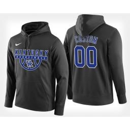 Kentucky Wildcats #00 Custom Black Hoodie College Basketball