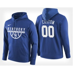 Kentucky Wildcats #00 Custom Blue Hoodie College Basketball