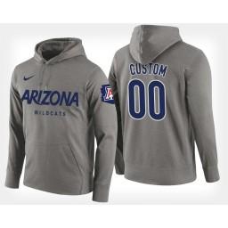 Arizona Wildcats #00 Custom Gray Hoodie College Basketball