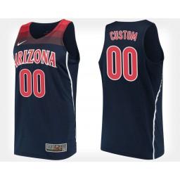 Arizona Wildcats #00 Custom Navy Alternate Jersey College Basketball