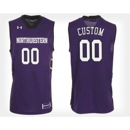 Northwestern Wildcats #00 Custom Purple Home Jersey College Basketball