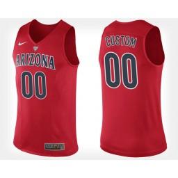 Arizona Wildcats #00 Custom Red Home Jersey College Basketball