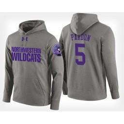 Northwestern Wildcats #5 Dererk Pardon Gray Hoodie College Basketball