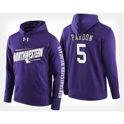 Northwestern Wildcats #5 Dererk Pardon Purple Hoodie College Basketball