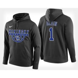 Kentucky Wildcats #1 Devin Booker Black Hoodie College Basketball