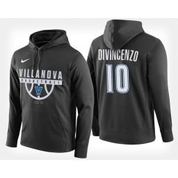 Villanova Wildcats #10 Donte DiVincenzo Black Hoodie College Basketball