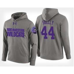 Northwestern Wildcats #44 Gavin Skelly Gray Hoodie College Basketball
