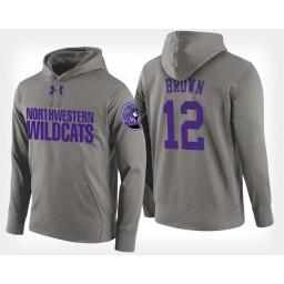 Northwestern Wildcats #12 Isiah Brown Gray Hoodie College Basketball
