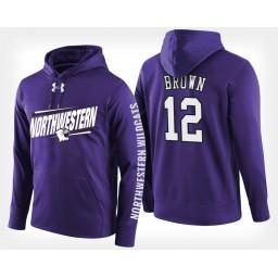 Northwestern Wildcats #12 Isiah Brown Purple Hoodie College Basketball
