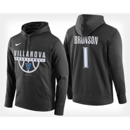 Villanova Wildcats #1 Jalen Brunson Black Hoodie College Basketball