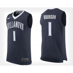 Youth Villanova Wildcats #1 Jalen Brunson Navy Home Authentic College Basketball Jersey