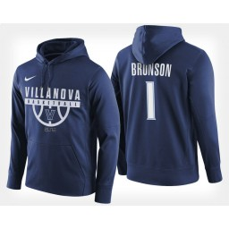 Villanova Wildcats #1 Jalen Brunson Navy Hoodie College Basketball