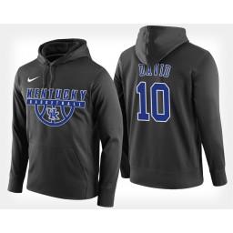 Kentucky Wildcats #10 Jonny David Black Hoodie College Basketball
