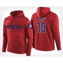Arizona Wildcats #10 Mike Bibby Red Hoodie College Basketball