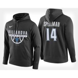 Villanova Wildcats #14 Omari Spellman Black Hoodie College Basketball