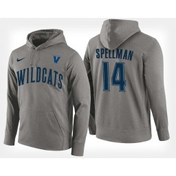 Villanova Wildcats #14 Omari Spellman Gray Hoodie College Basketball