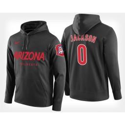 Arizona Wildcats #0 Parker Jackson-Cartwright Black Hoodie College Basketball