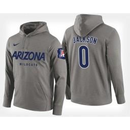 Arizona Wildcats #0 Parker Jackson-Cartwright Gray Hoodie College Basketball