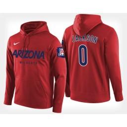 Arizona Wildcats #0 Parker Jackson-Cartwright Red Hoodie College Basketball