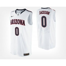 Youth Arizona Wildcats #0 Parker Jackson-Cartwright White Road Authentic College Basketball Jersey