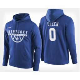 Kentucky Wildcats #0 Quade Green Blue Hoodie College Basketball