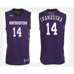 Northwestern Wildcats #14 Rapolas Ivanauskas Purple Home Authentic College Basketball Jersey
