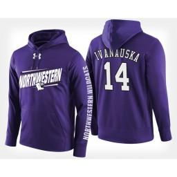 Northwestern Wildcats #14 Rapolas Ivanauskas Purple Hoodie College Basketball