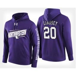 Northwestern Wildcats #20 Scottie Lindsey Purple Hoodie College Basketball