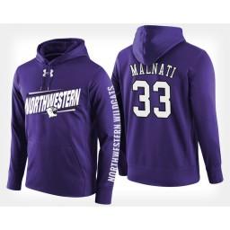 Northwestern Wildcats #33 Tino Malnati Purple Hoodie College Basketball