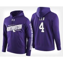 Northwestern Wildcats #4 Vic Law Purple Hoodie College Basketball