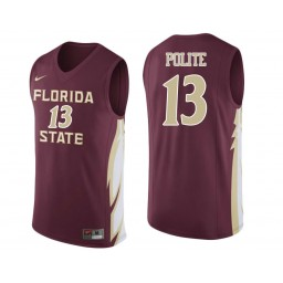 Florida State Seminoles #13 Anthony Polite Authentic College Basketball Jersey wine