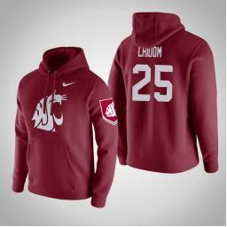 Washington State Cougars #25 Arinze Chidom Men's Wine Pullover Hoodie