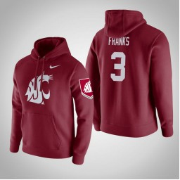 Washington State Cougars #3 Robert Franks Men's Wine Pullover Hoodie