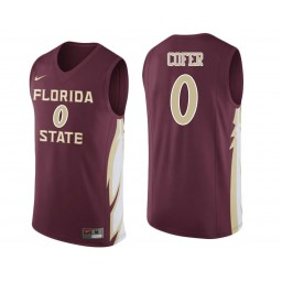 Florida State Seminoles #0 Phil Cofer Authentic College Basketball Jersey wine