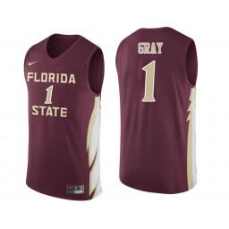 Florida State Seminoles #1 Raiquan Gray Authentic College Basketball Jersey wine