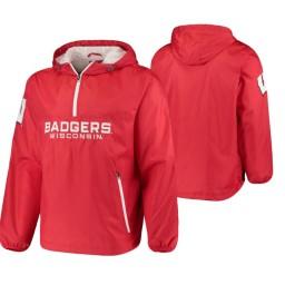 Wisconsin Badgers Red Base Runner Half-Zip Jacket