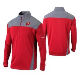 Wisconsin Badgers Red Omni-Wick Standard Quarter-Zip Jacket
