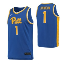 Youth Xavier Johnson Authentic College Basketball Jersey Royal Pittsburgh Panthers